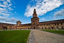 Car rental in Milan, Sforzesco Castle, Italy