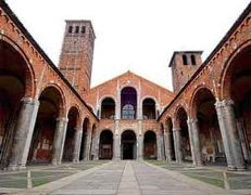 Car rental in Milan, St. Ambrogio Basilica, Italy